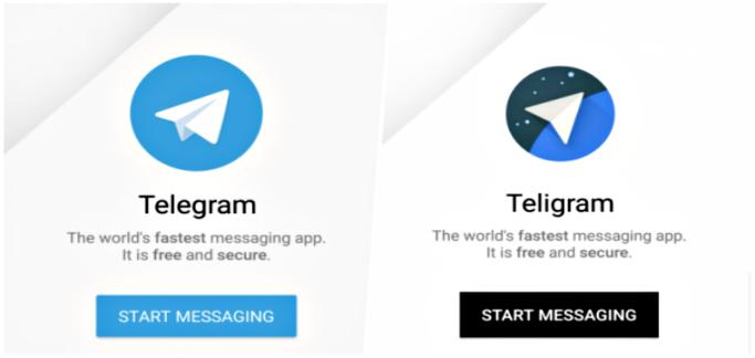 фото: фейковое приложение Telegram