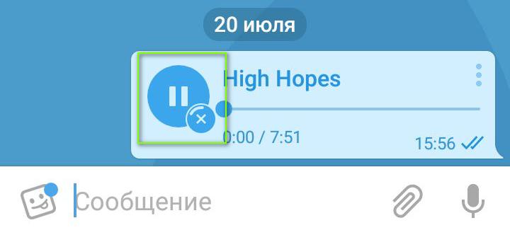 картинка: как загрузить музыку в телеграм