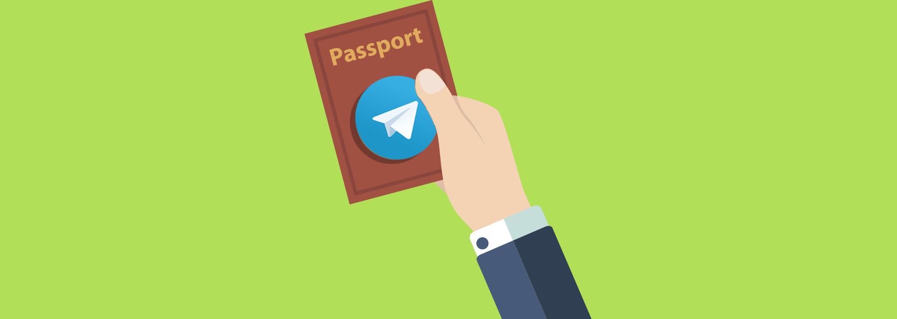 картинка: как пользоваться telegram passport