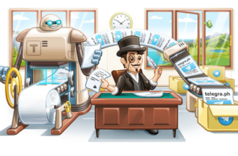 картинка: телеграф в телеграм - инструкция